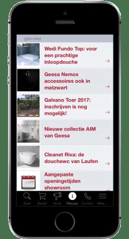 Galvano App op Iphone