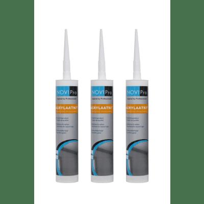 Novipro Acrylaatkit wit koker 310ml
