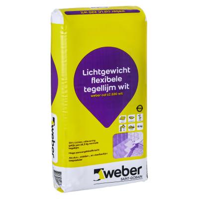 Weber Beamix Col LC220 Poedertegellijm lichtgewicht wit 15kg