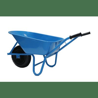 Novipro kruiwagen ronde buis 4-ply blauw a 85 liter
