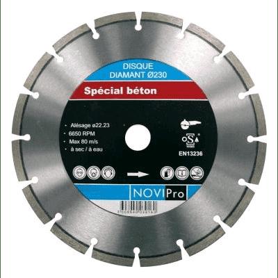 Novipro diamantschijf laser asgat 22,23 230mm